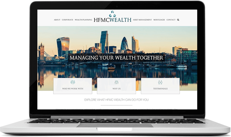 Website for Wealth Management Company London