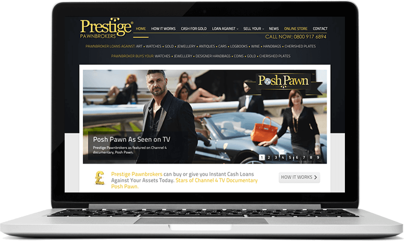Website for Luxury High End Pawnbrokers