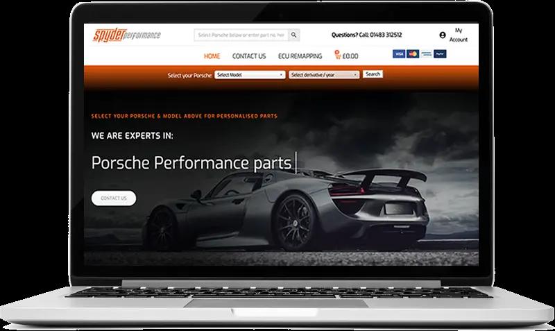 Porsche performance spares and upgrades website